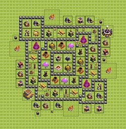 Base plan (layout), Town Hall Level 8 for farming (variant 4)