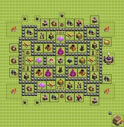 Base plan (layout), Town Hall Level 8 for farming (variant 6)