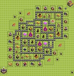Base plan (layout), Town Hall Level 8 for farming (variant 7)