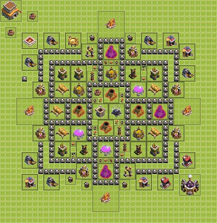 Die base f 252 r farmen clash of clans rathaus level 8 th 8 rh 8