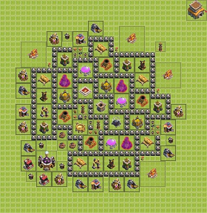 Clash of clans th 8 farming base
