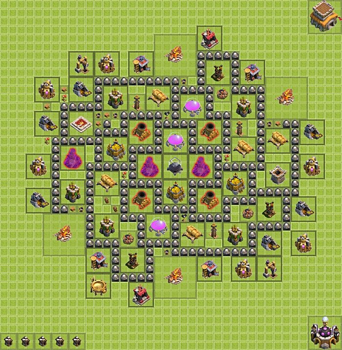 Farming base plan layout design th 8 clash of clans town hall