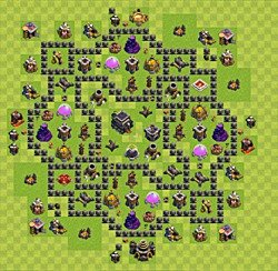 defense level 9 town hall sweeper source http clash of clans wiki com