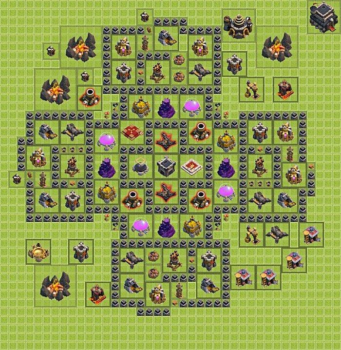Базы tx 9 для фарма clash of clans - (вариант 29