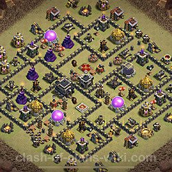 Base plan (layout), Town Hall Level 9 for clan wars (#28)