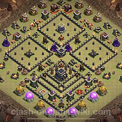 Base plan (layout), Town Hall Level 9 for clan wars (#30)