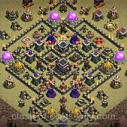 Base plan (layout), Town Hall Level 9 for clan wars (#82)