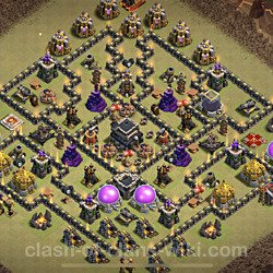 Base plan (layout), Town Hall Level 9 for clan wars (#83)