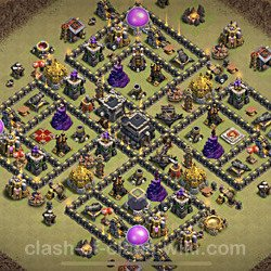 Base plan (layout), Town Hall Level 9 for clan wars (#84)