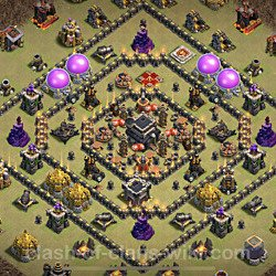 Base plan (layout), Town Hall Level 9 for clan wars (#85)