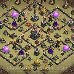 Base plan (layout), Town Hall Level 9 for clan wars (#86)